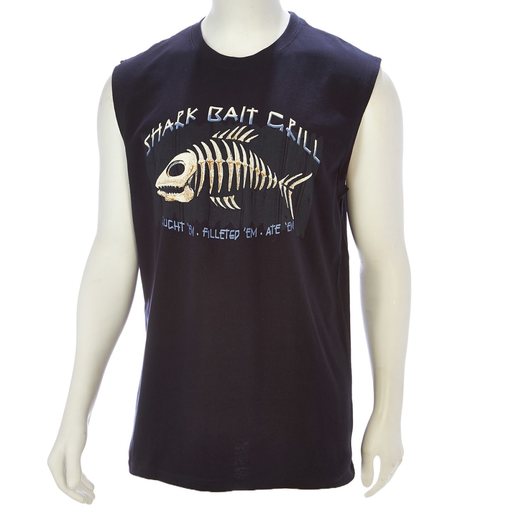 NEWPORT BLUE Men's Shark Bait Grill Muscle Tee - NAVY