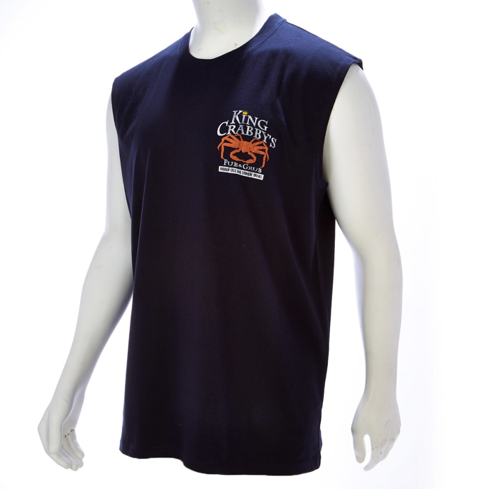 NEWPORT BLUE Men's King Crabby Pub Muscle Tee - NAVY