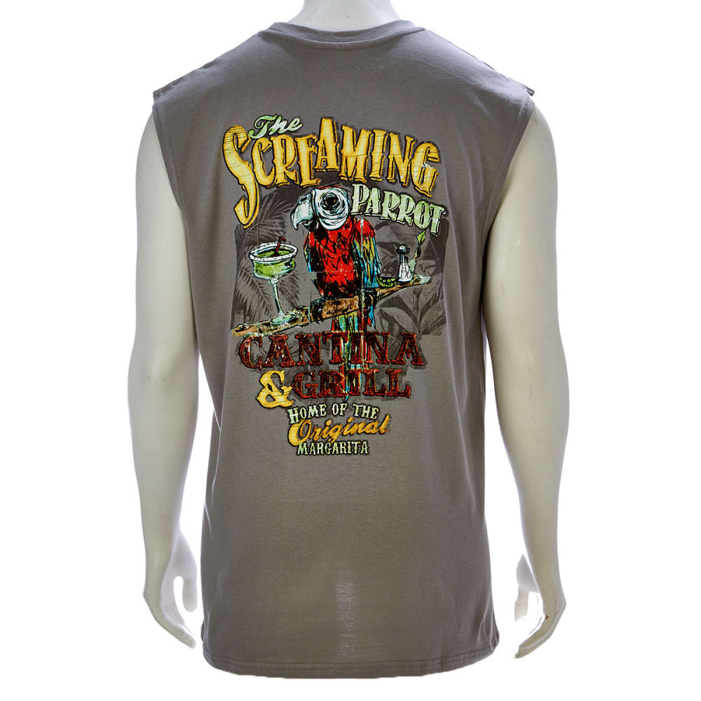 NEWPORT BLUE Men's The Screaming Parrot Muscle Tee - GREY