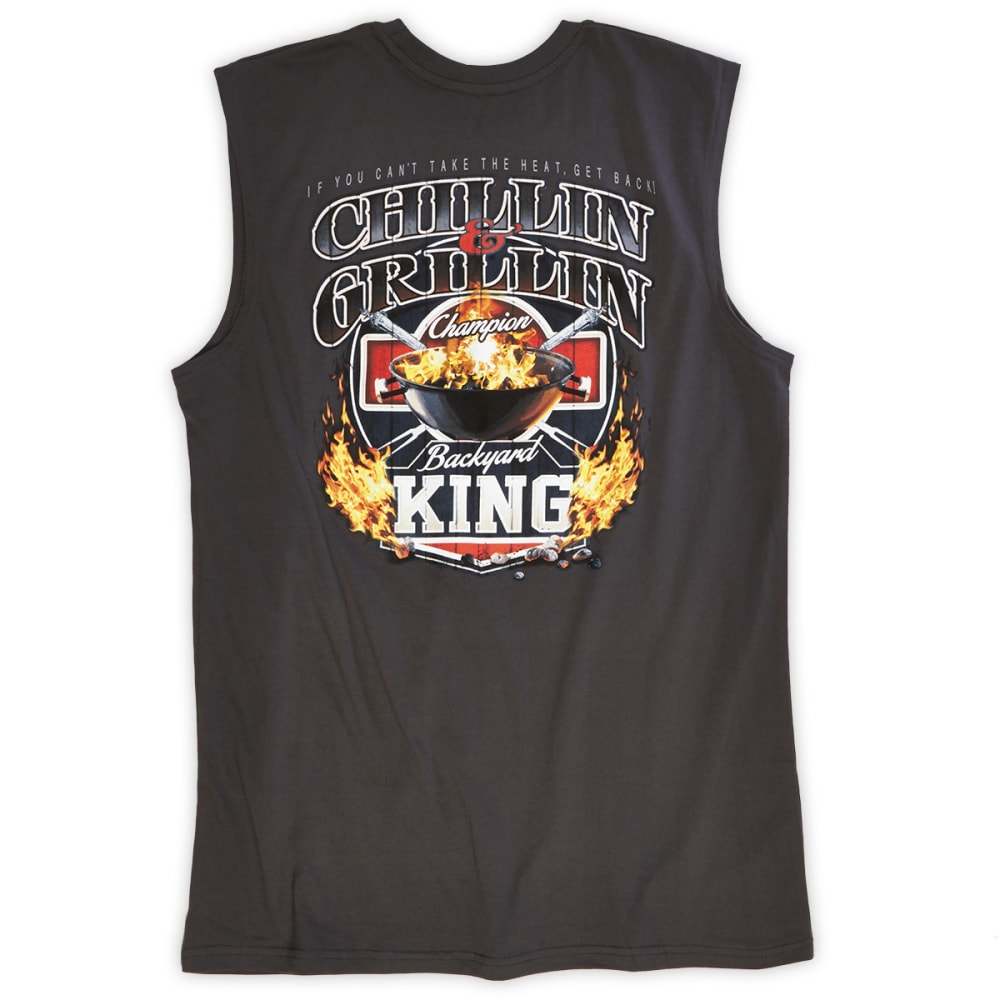 NEWPORT BLUE Men's Chillin' Grillin' Muscle Tee - GREY