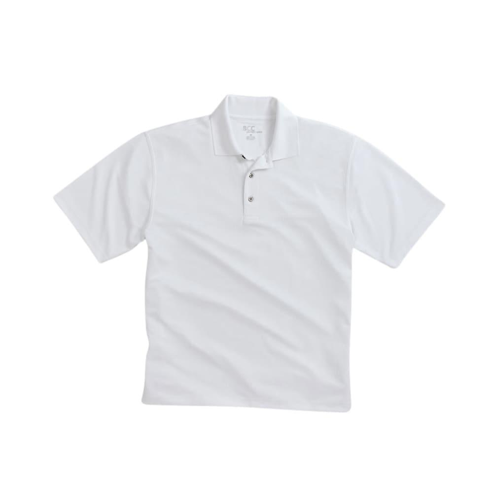BCC Men's Poly Polo - WHITE