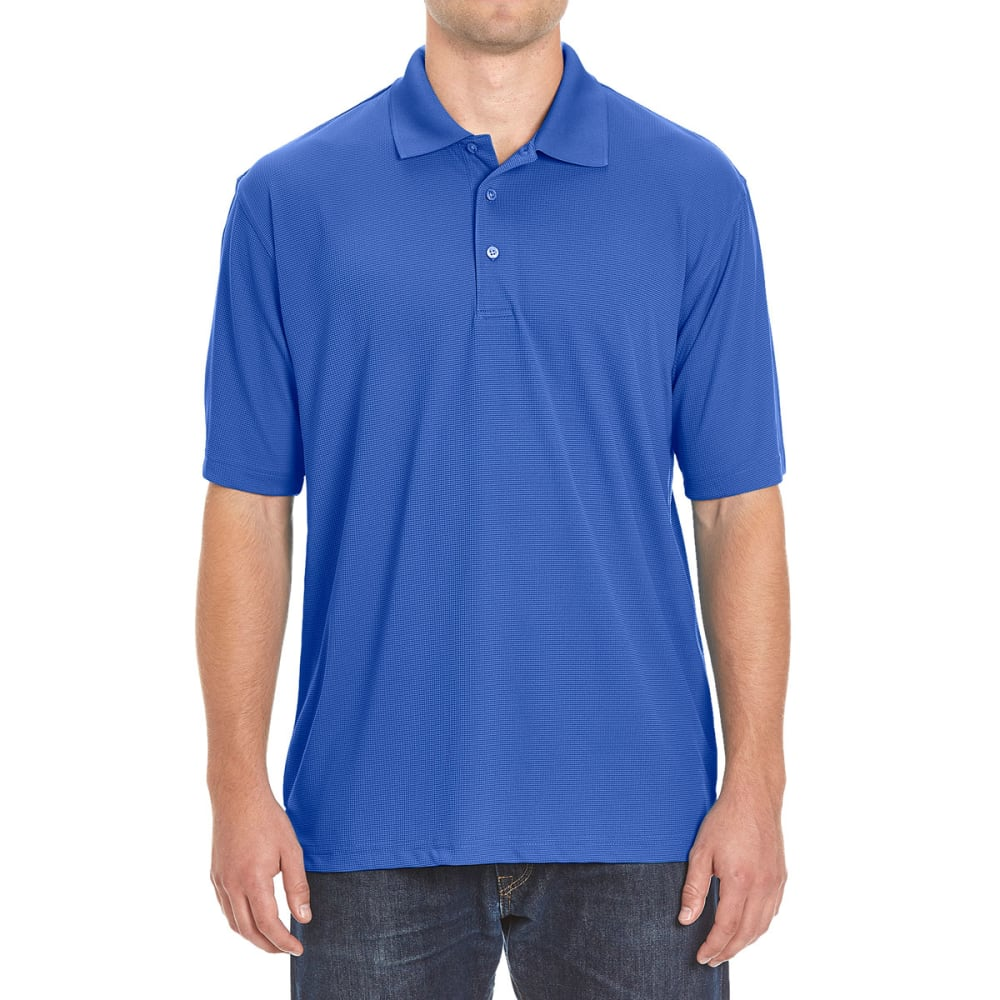 BCC Men's Poly Polo - NOON BLUE