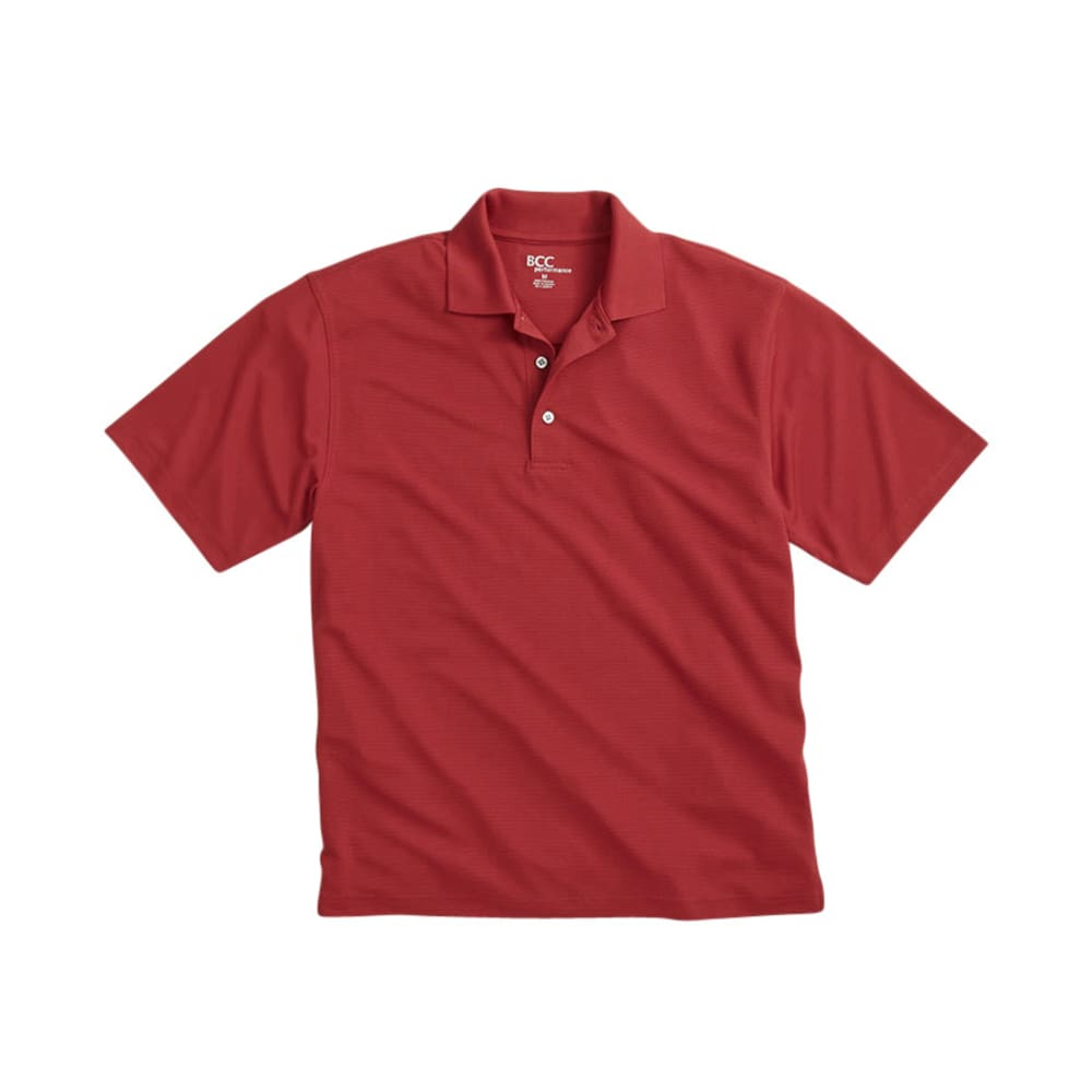 BCC Men's Poly Polo - RED