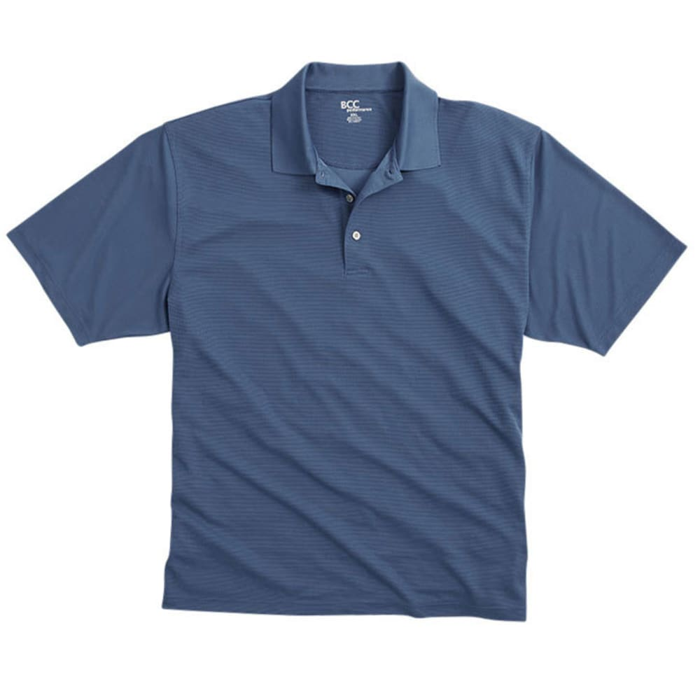 BCC Men's Poly Polo Shirt - NAUT BLUE