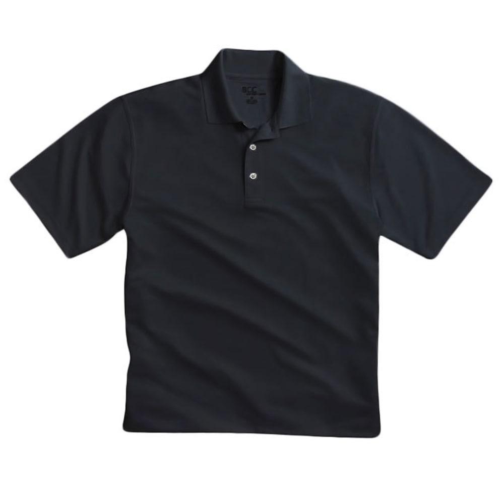 BCC Men's Poly Polo Shirt - BLACK