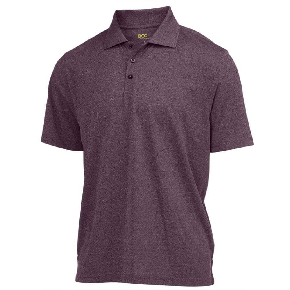 BCC Men's Performance Polo - CABERNET