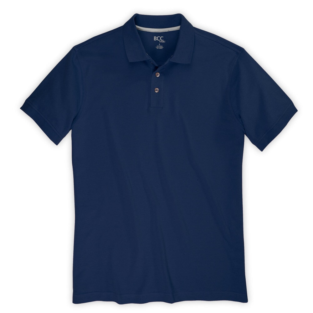 BCC Men's Pique Polo - NIGHT SKY