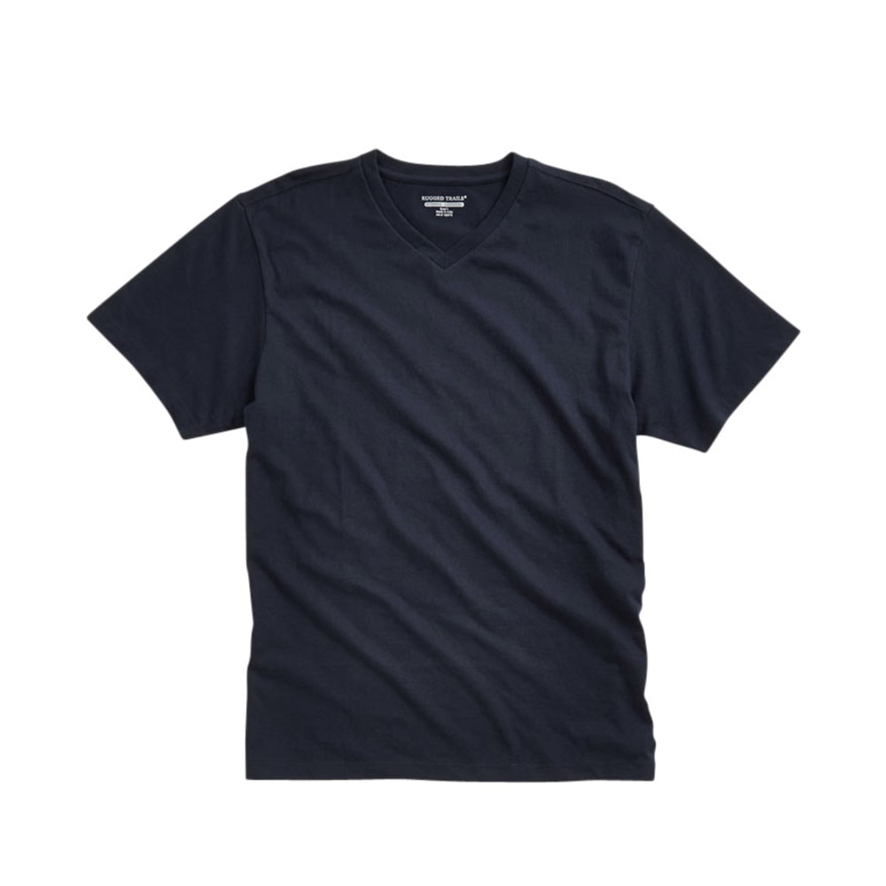 RUGGED TRAILS Men's V-Neck Tee - DRESS BLUE
