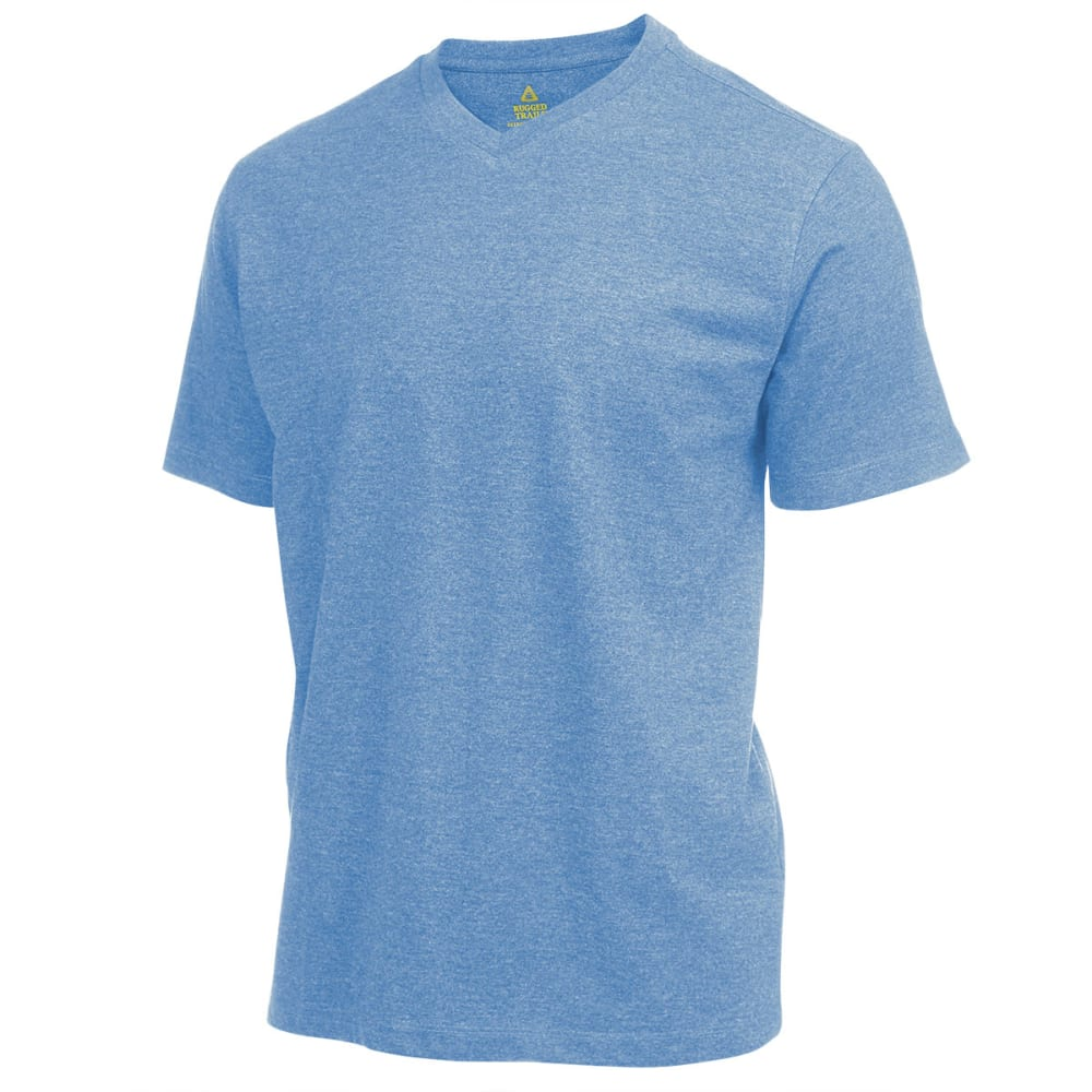 RUGGED TRAILS Men's V-Neck Tee - DENIM HTR