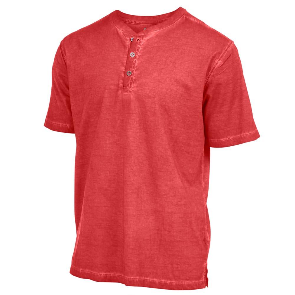 RUGGED TRAILS Men's Oil Wash Short-Sleeve Henley Shirt - FORMULA 1