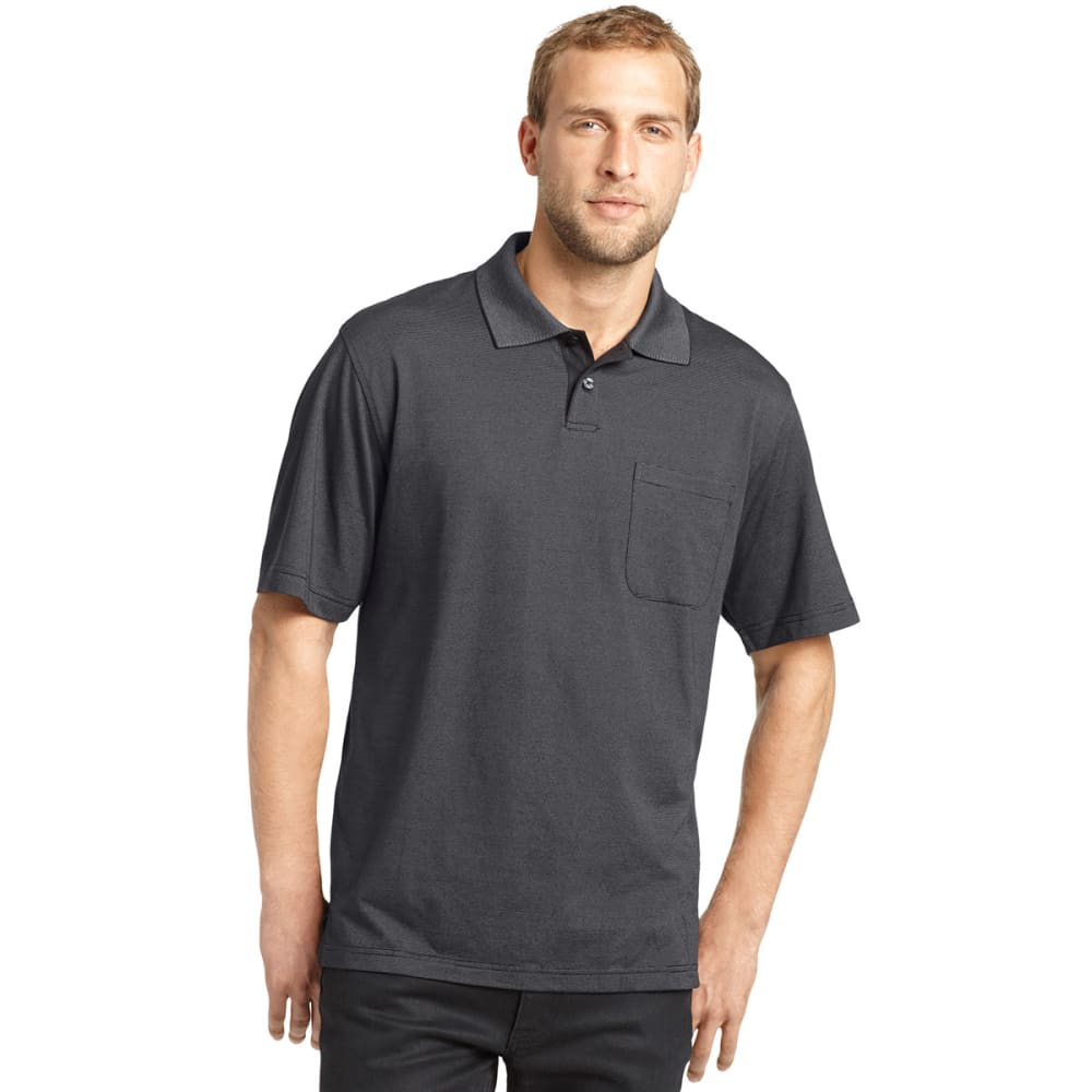 VAN HEUSEN Men's Feeder Stripe Polo - BLACK
