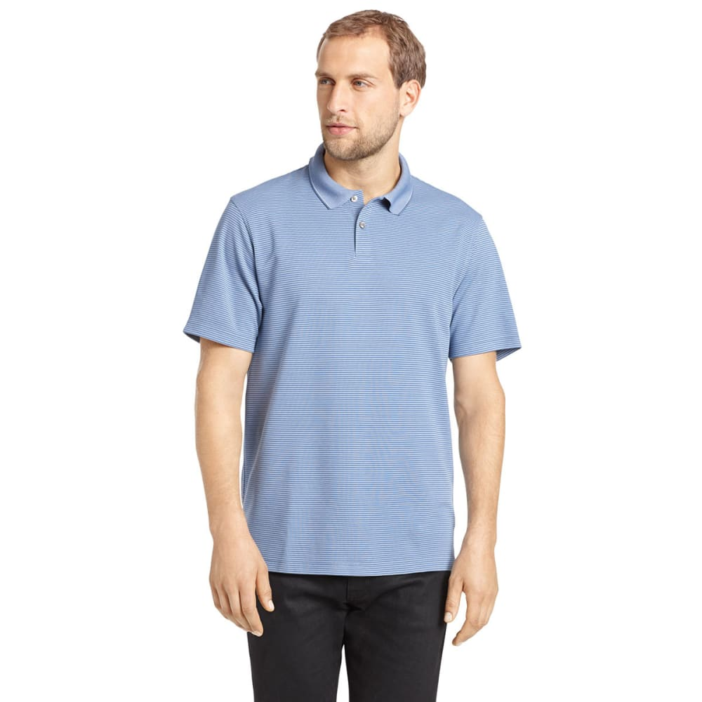 VAN HEUSEN Men's Ottoman Polo - BLUE RIB