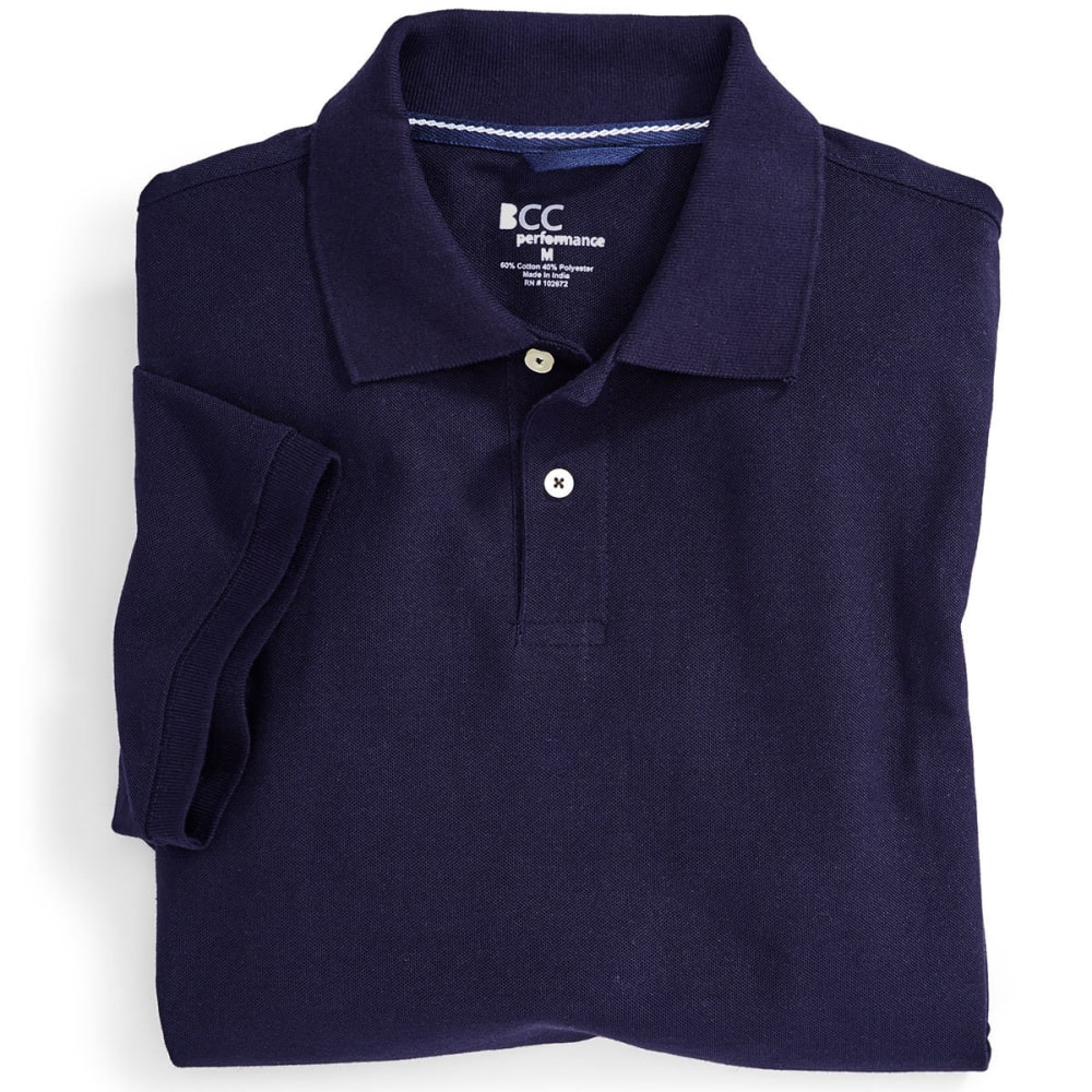 BCC Men's Blended Polo Shirt - DRESS BLUE