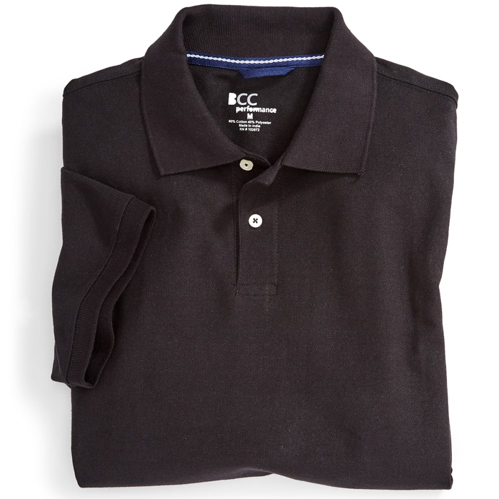 BCC Men's Blended Polo - BLACK