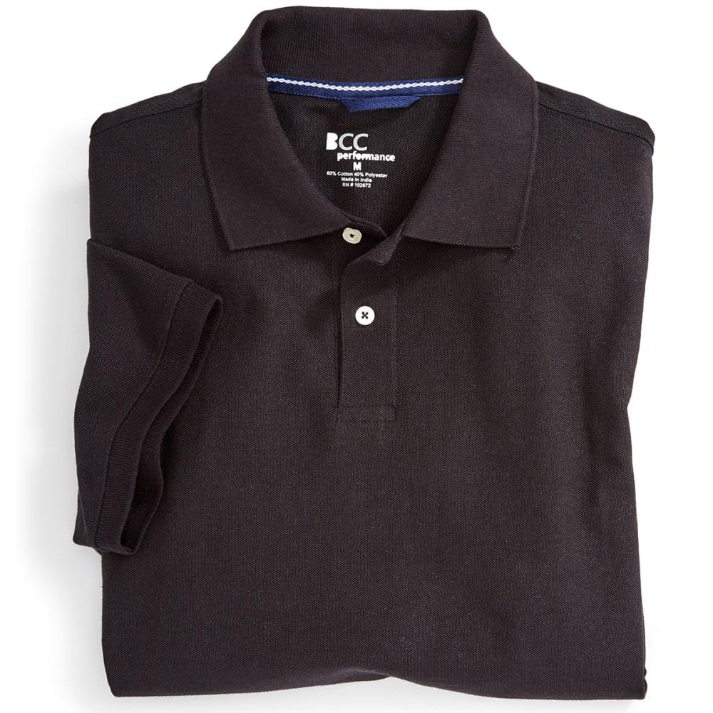 BCC Men's Blended Polo - BLACK