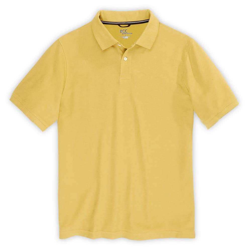 BCC Men's Blended Dress Polo - SUNSHINE