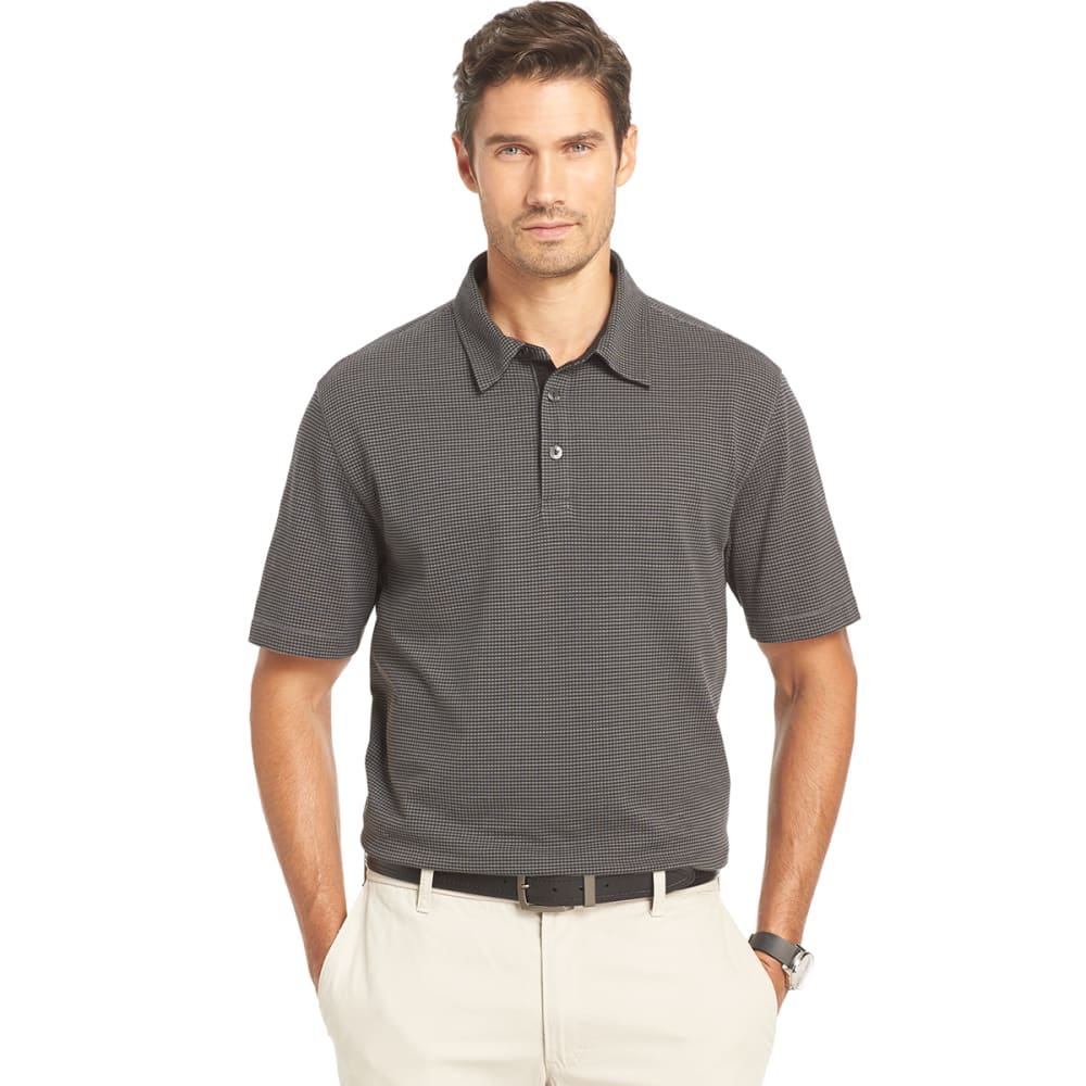 VAN HEUSEN Men's Popcorn Knit Polo - 001-BLACK
