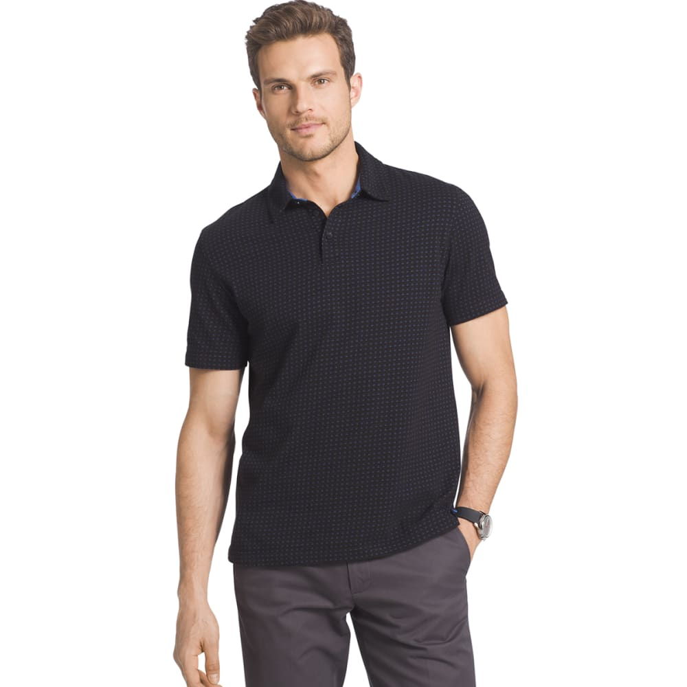 VAN HEUSEN Men's Traveler Polo - 001-BLACK