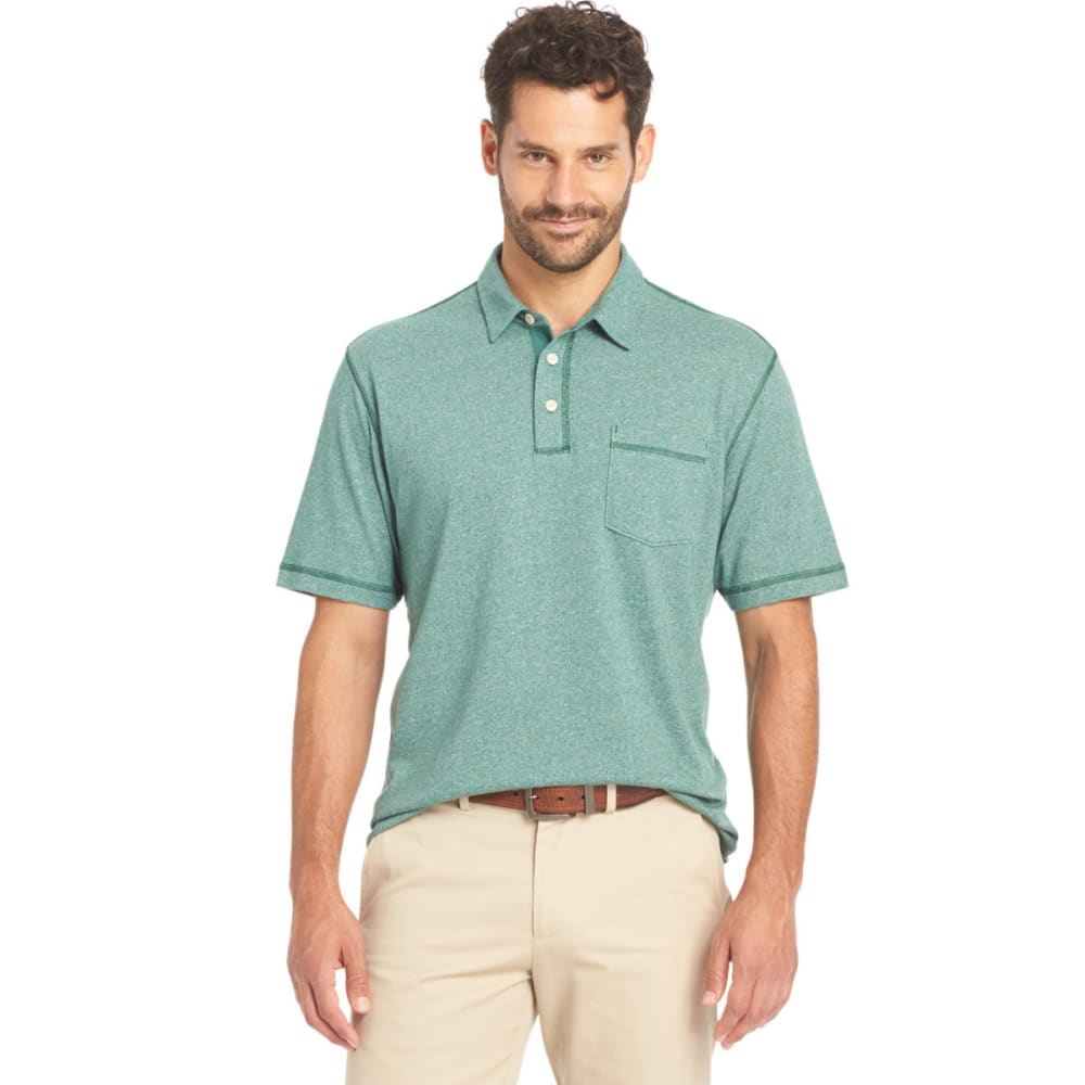 ARROW Men's Pique Marled Polo - 309-SMOKE PINE