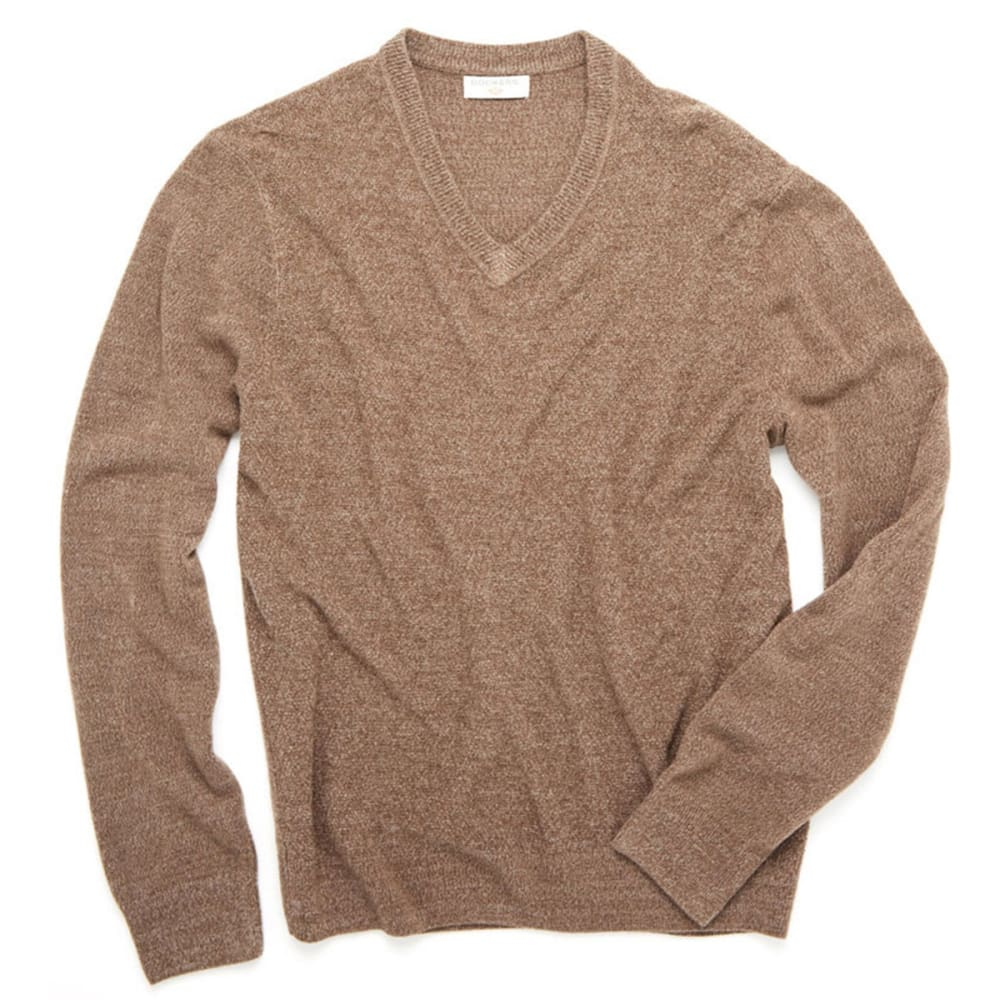 DOCKERS Men's Solid V-Neck Sweater - OTTER
