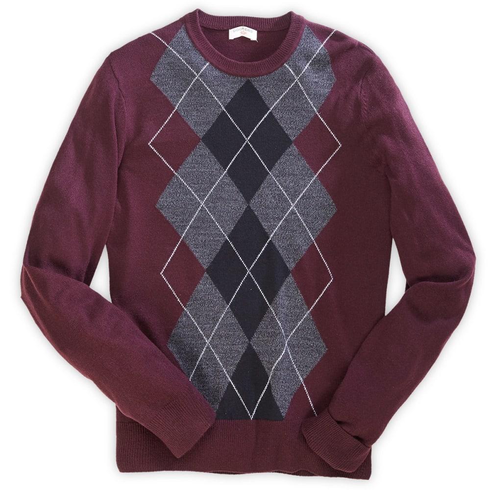 DOCKERS Men's Argyle Sweater - DARK CRIMSON