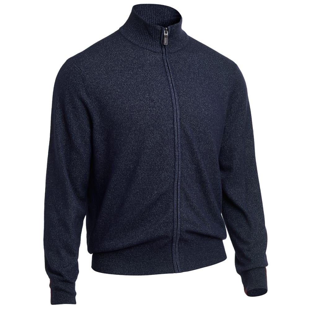 DOCKERS Men's Full Zip Sweater - DEEP NIGHT