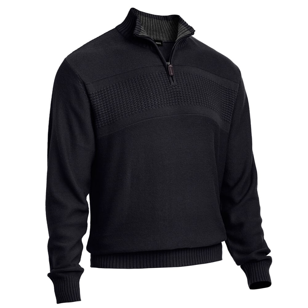 RUGGED TRAILS Men's Tricot 1/4 Zip - BLACK