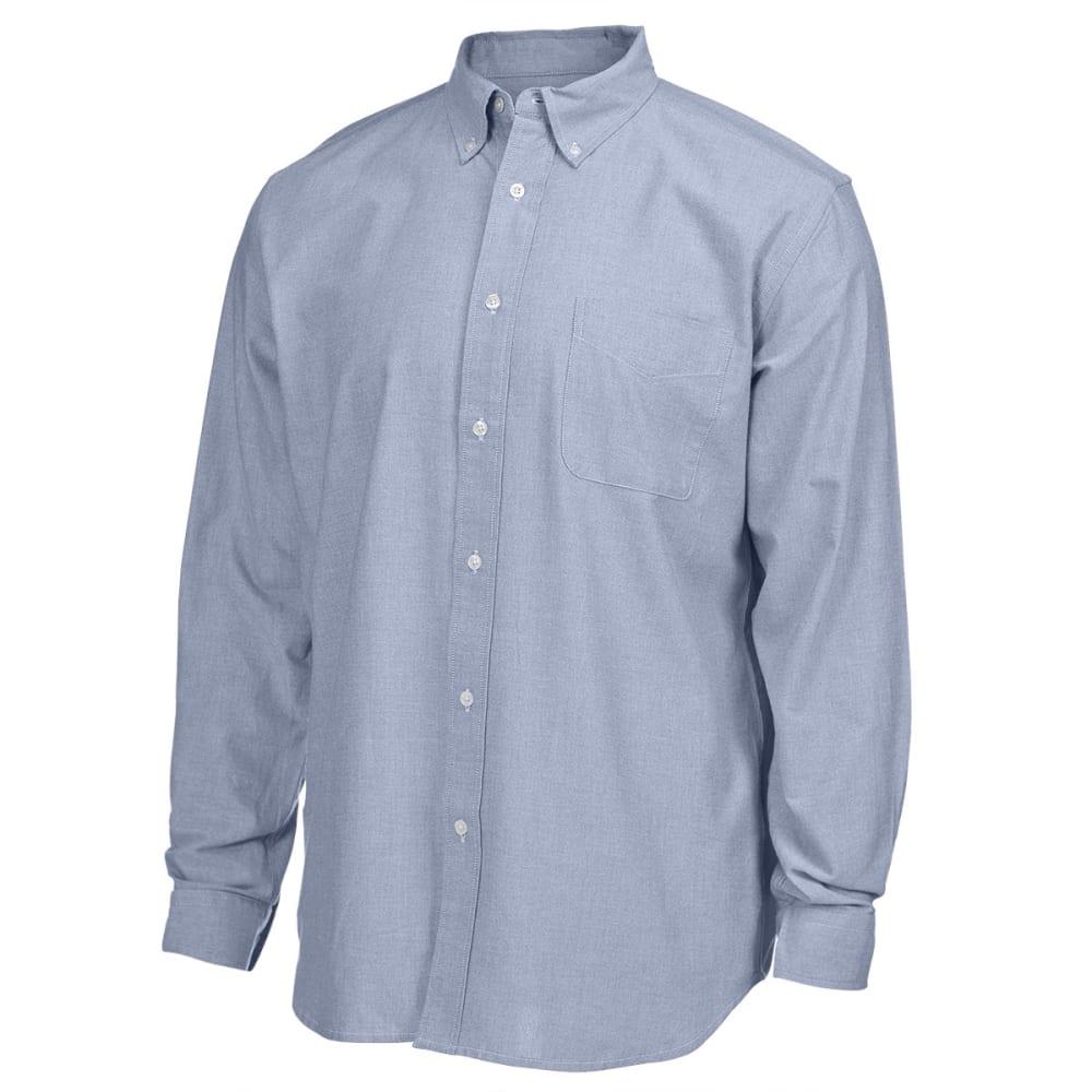 NATURAL BASIX Men's Solid Oxford Long-Sleeve Shirt - CADET BLUE