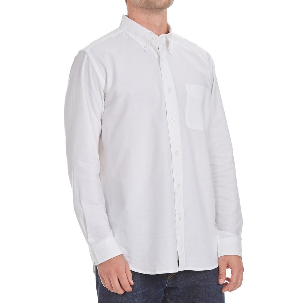 NATURAL BASIX Men's Solid Woven Shirt - WHITE