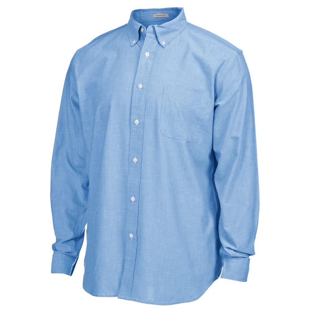 NATURAL BASIX Men's Solid Woven Shirt - MARINE