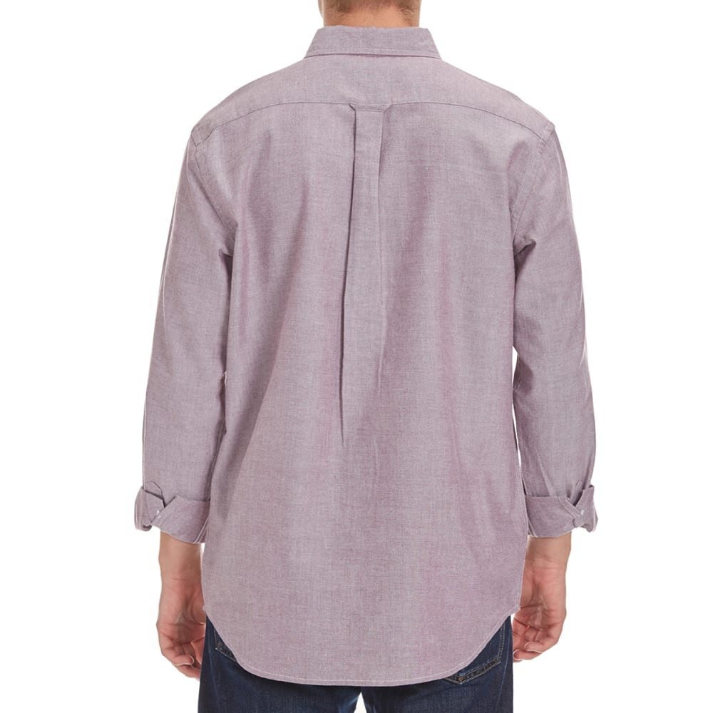 NATURAL BASIX Men's Solid Woven Shirt - BURGUNDY