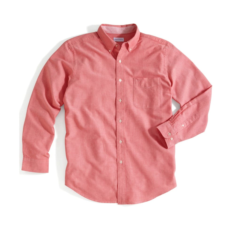NATURAL BASIX Men's Solid Woven Shirt - SALMON