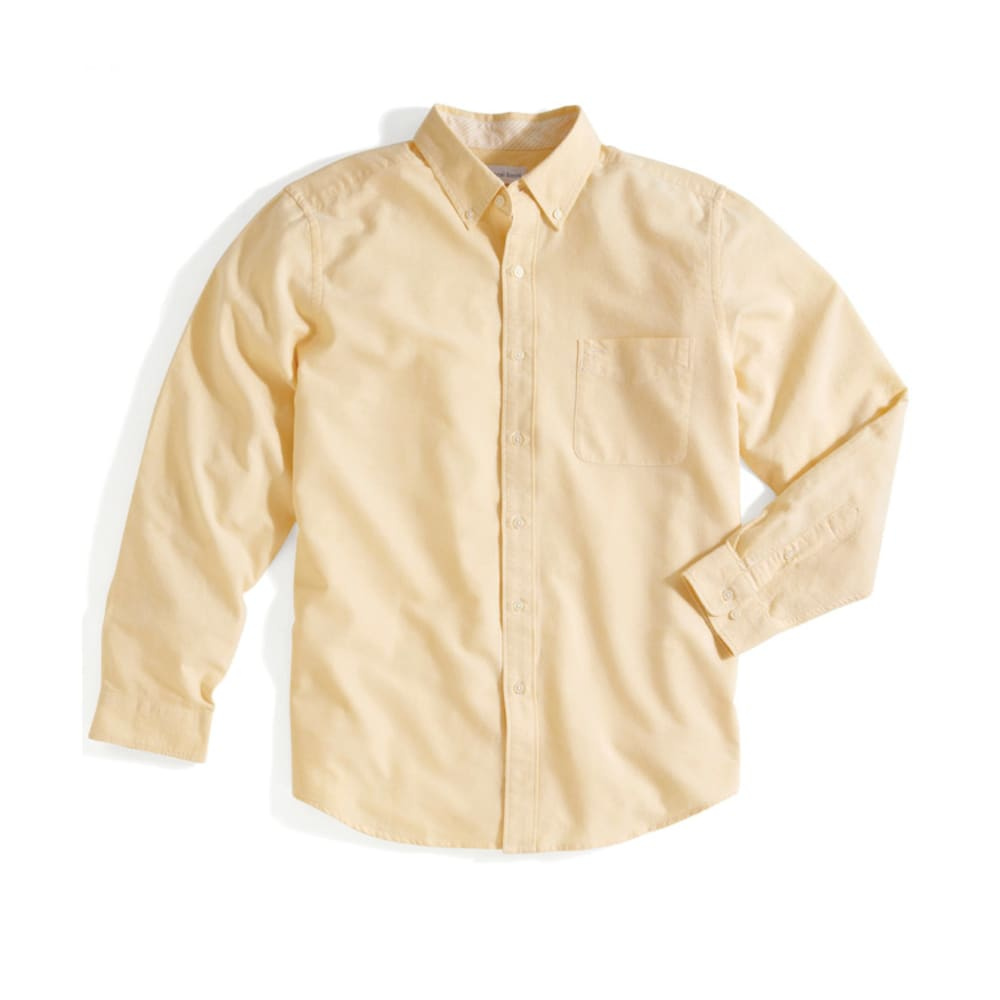 NATURAL BASIX Men's Solid Woven Shirt - BANANA