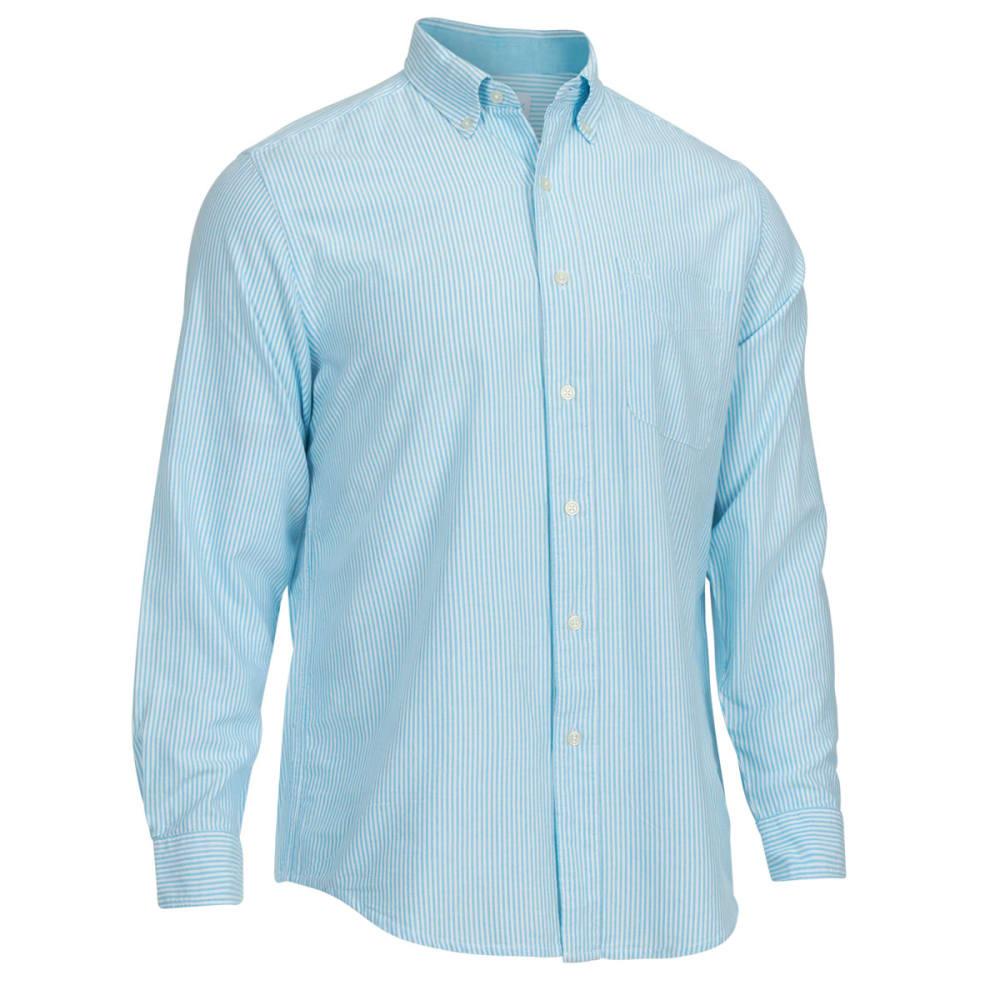 NATURAL BASIX Men's Stripe Shirt - TURQ