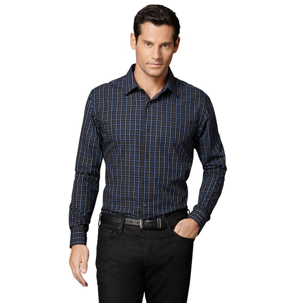 VAN HEUSEN Men's Woven Shirt - AMAPARO BLUE