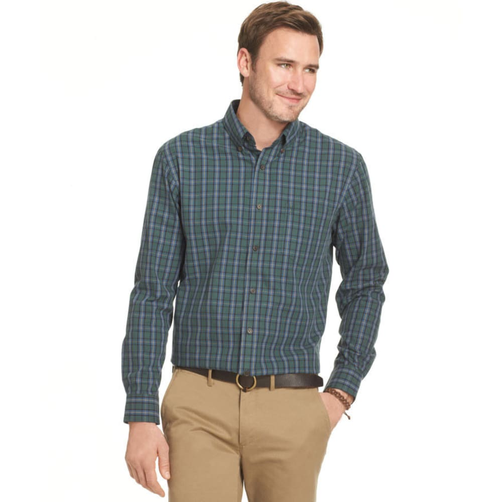 ARROW Men's Big & Tall Tartan Woven Shirt - GARDEN