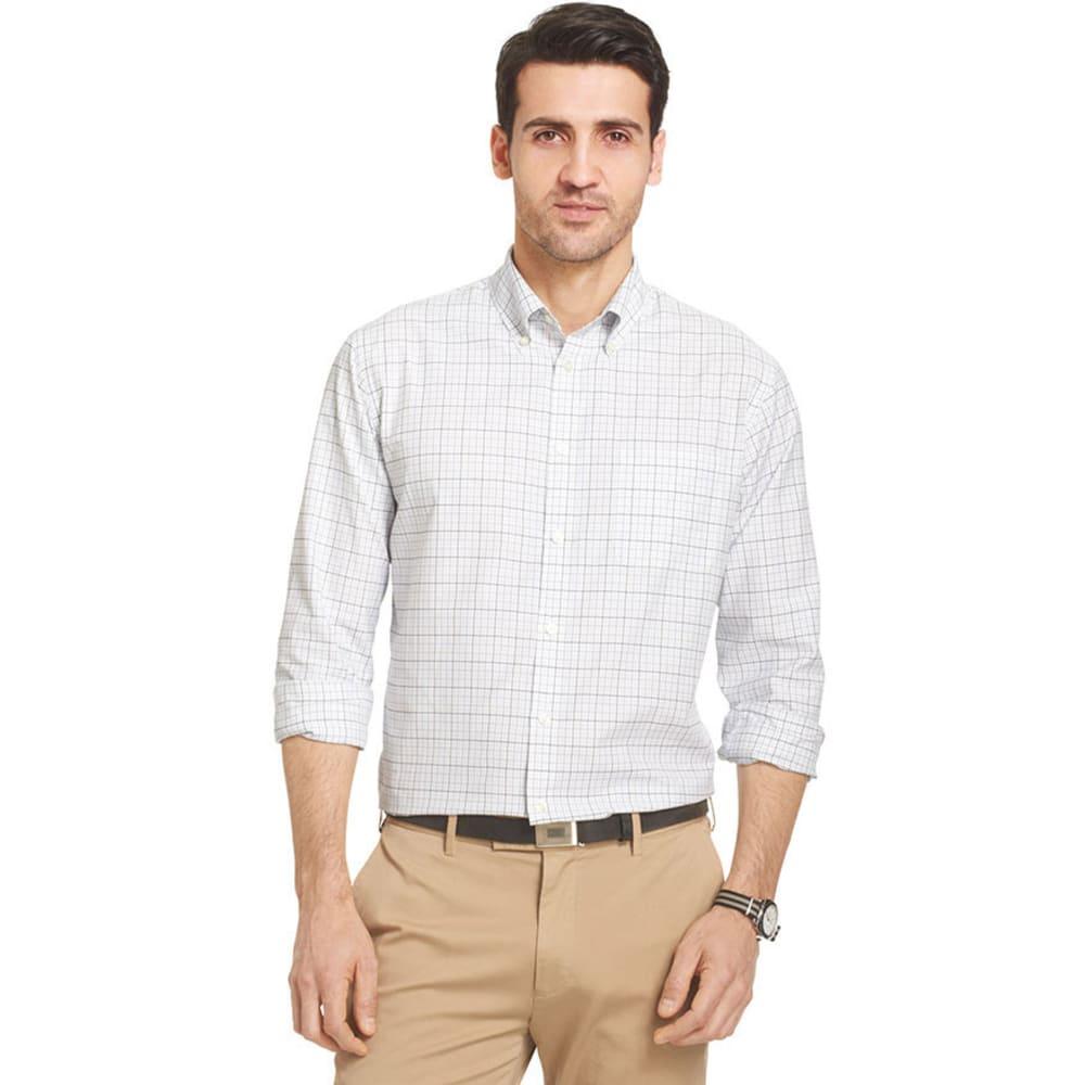 VAN HEUSEN Big and Tall Traveler Plaid Performance Shirt - WHITE