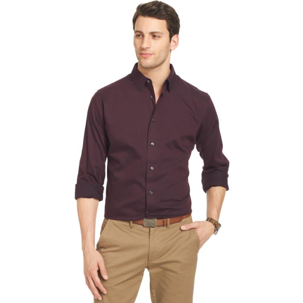 VAN HEUSEN Men's Satin Stripe Long Sleeve Button-Down Shirt S