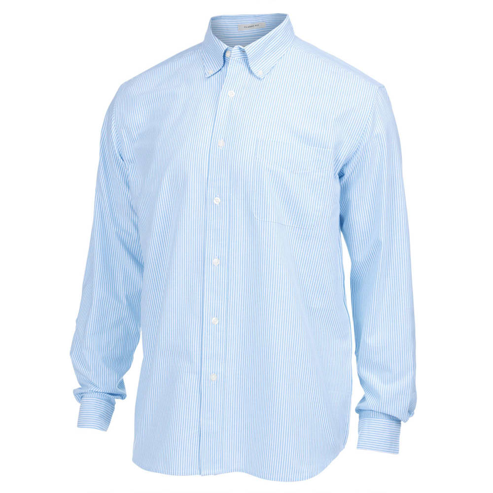 NATURAL BASIX Men's Stripe Oxford Woven Shirt - MARINE