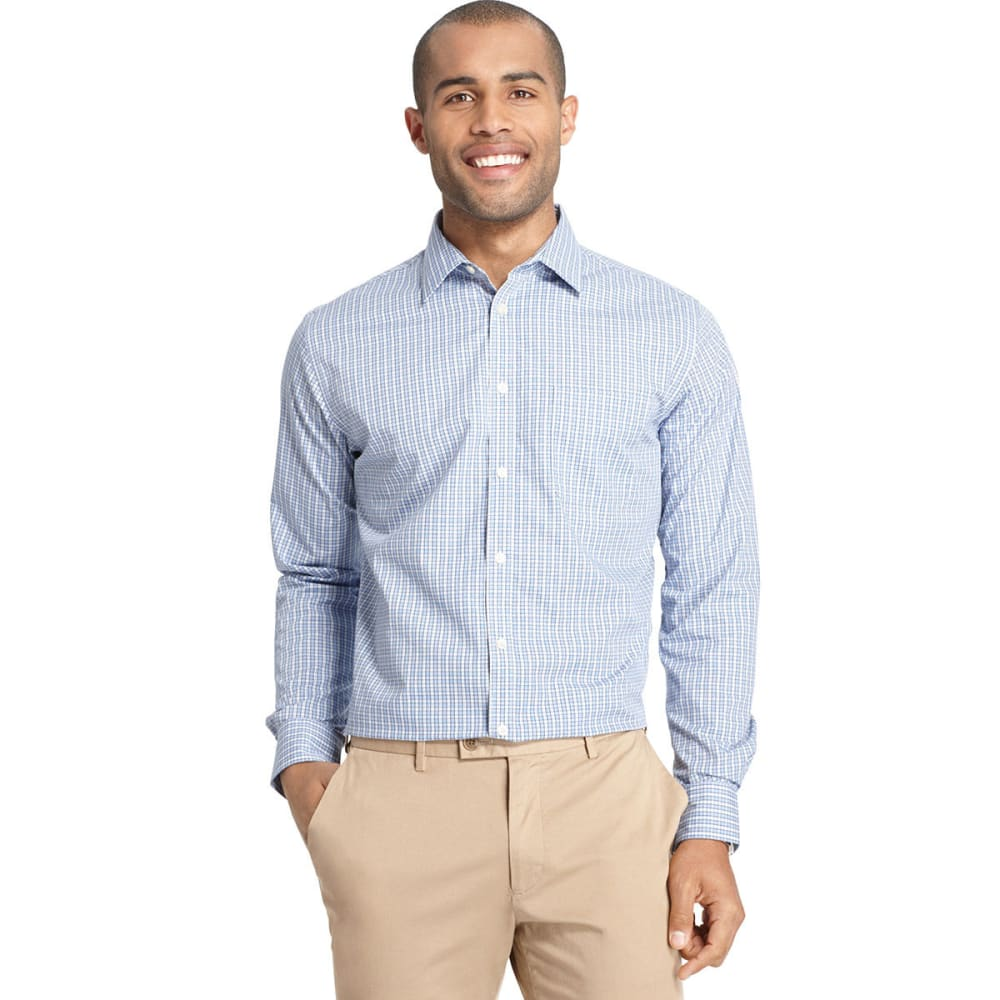 VAN HEUSEN Men's Traveler No Iron Button Down Shirt - VISTA BLUE