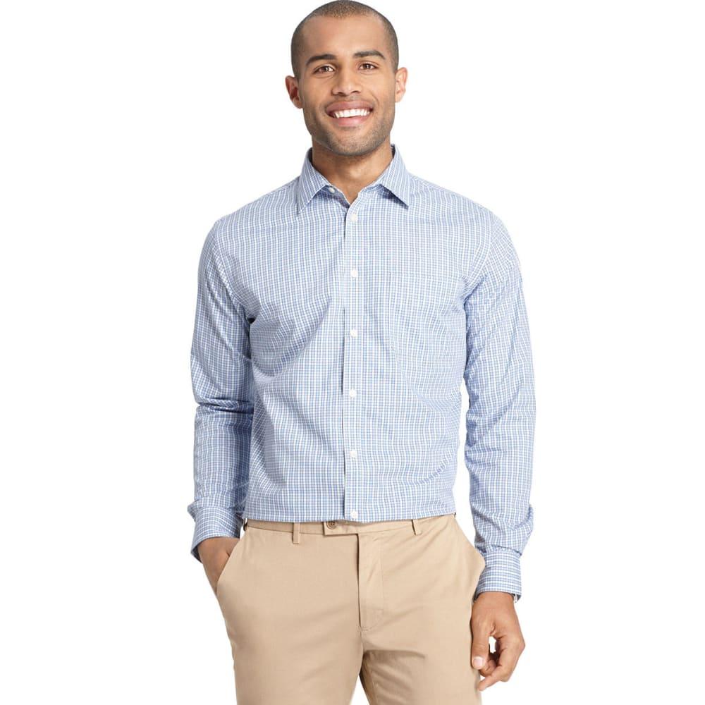 VAN HEUSEN Men's Traveler No Iron Button Down Shirt - VISTA BLUE
