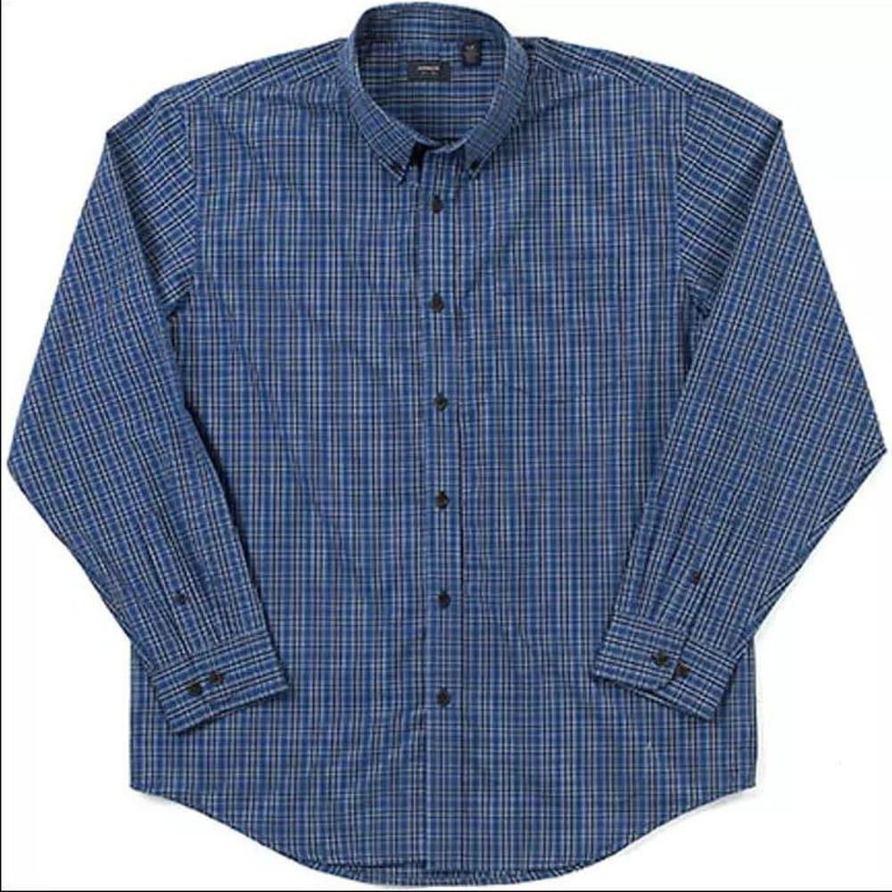 G.H. BASS & CO. Men's Blazer Plaid Button Down Shirt - BLUE/JADE
