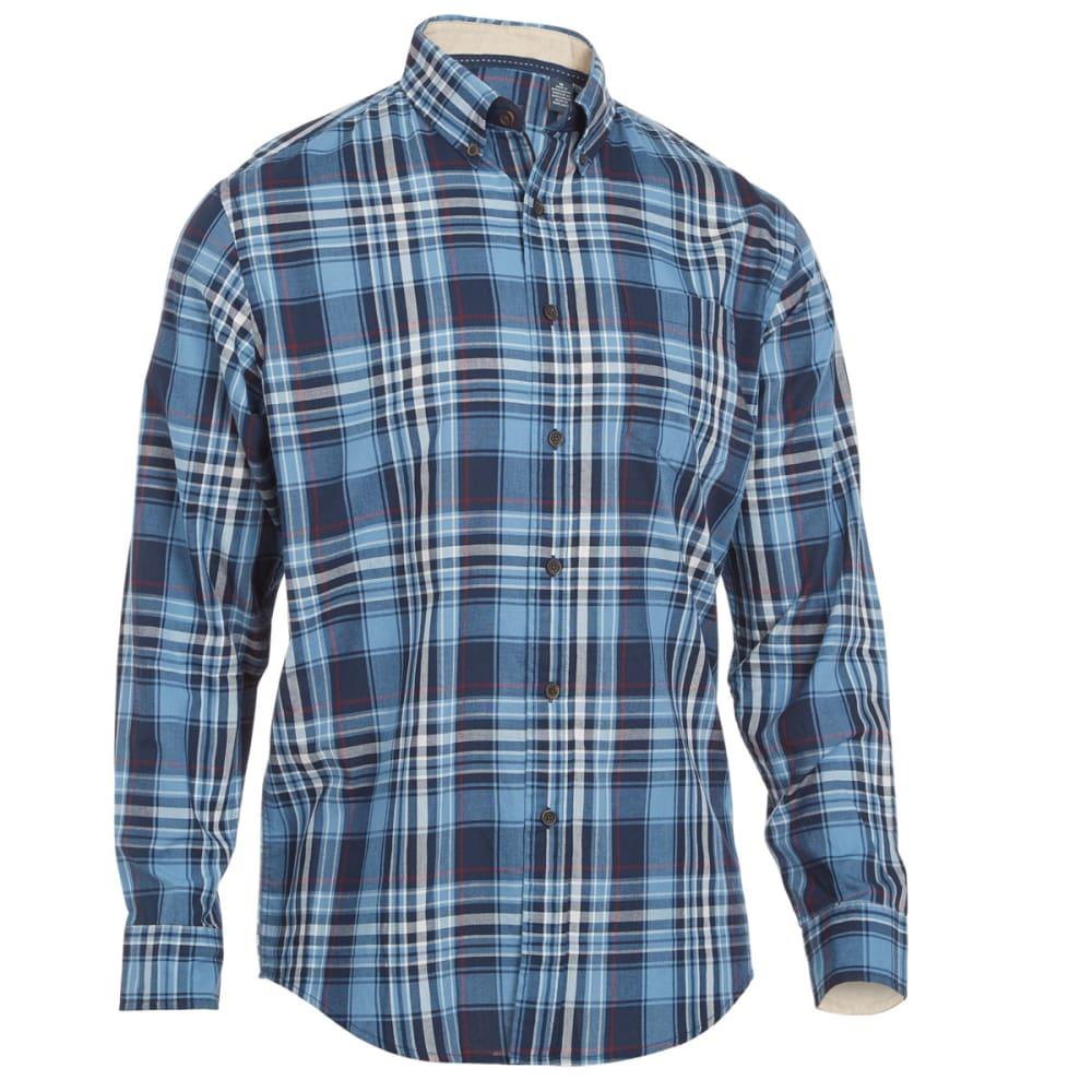 ARROW Men's Madras Plaid Woven Button Down - BLUE/JADE
