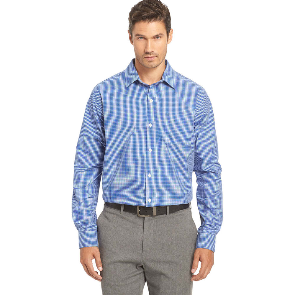 VAN HEUSEN Men's Woven Traveler Shirt - 470-BLUE MAZ