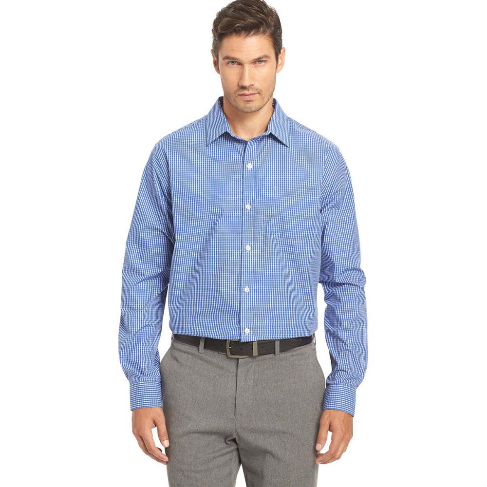VAN HEUSEN Men's Woven Traveler Shirt - 470-BLUE MAZ