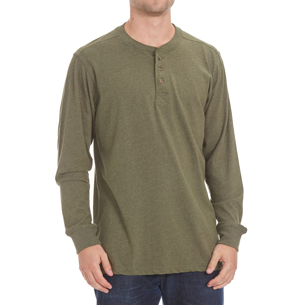 RUGGED TRAILS Men's Sueded Henley Shirt - DRAGONFLY