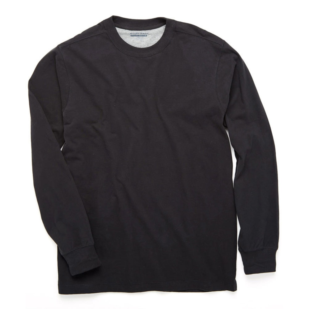 RUGGED TRAILS Men's Sueded Crew - BLACK