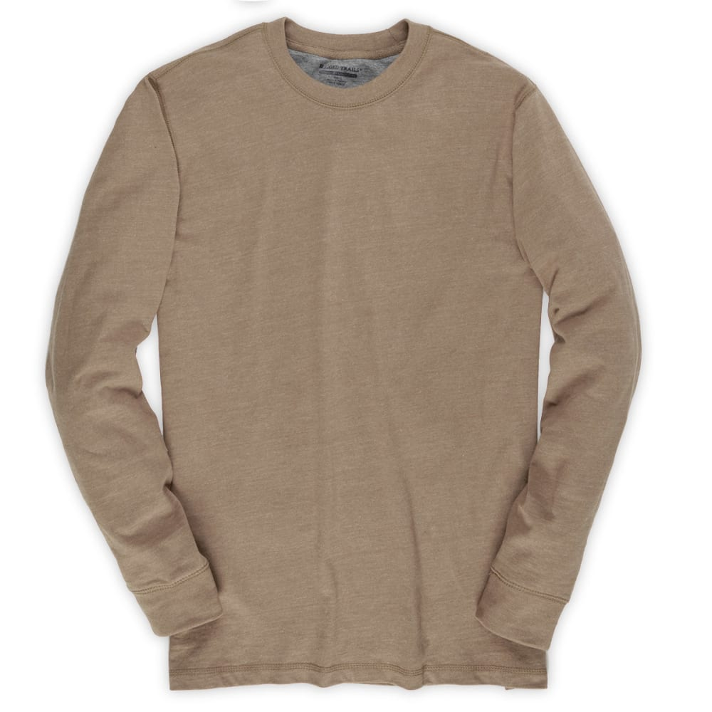 RUGGED TRAILS Men's Sueded Crew - SAND