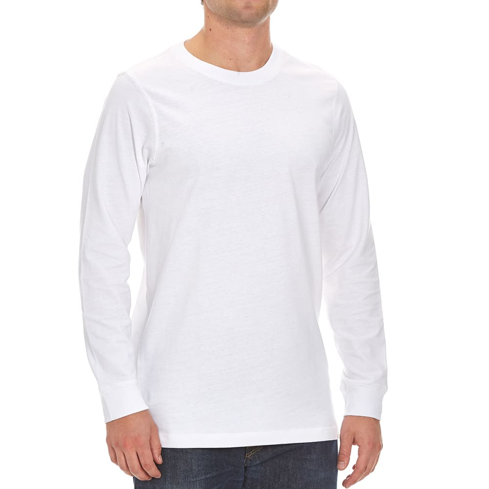RUGGED TRAILS Men's Sueded Crew Shirt - WHITE