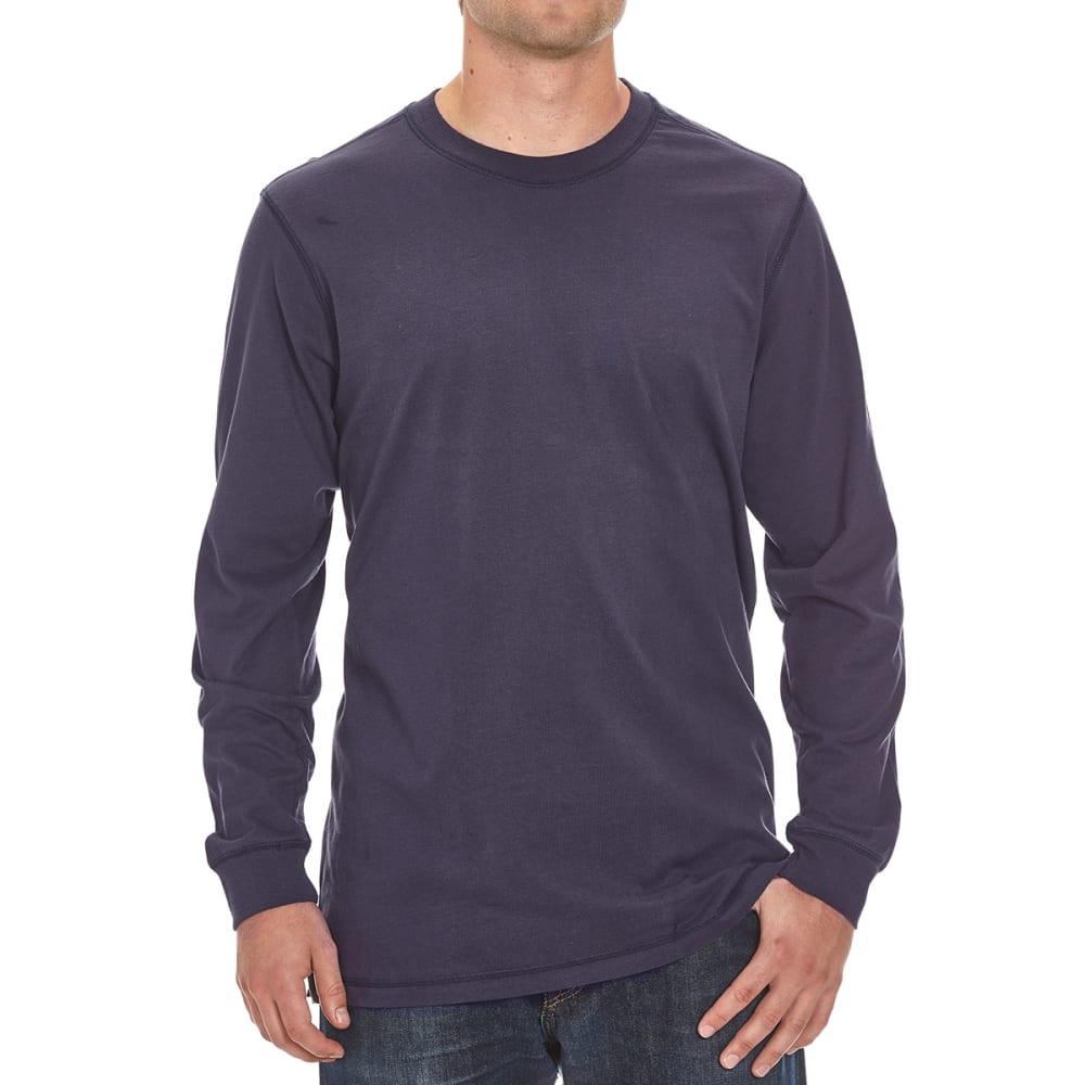 RUGGED TRAILS Men's Sueded Crew Shirt - NAVY
